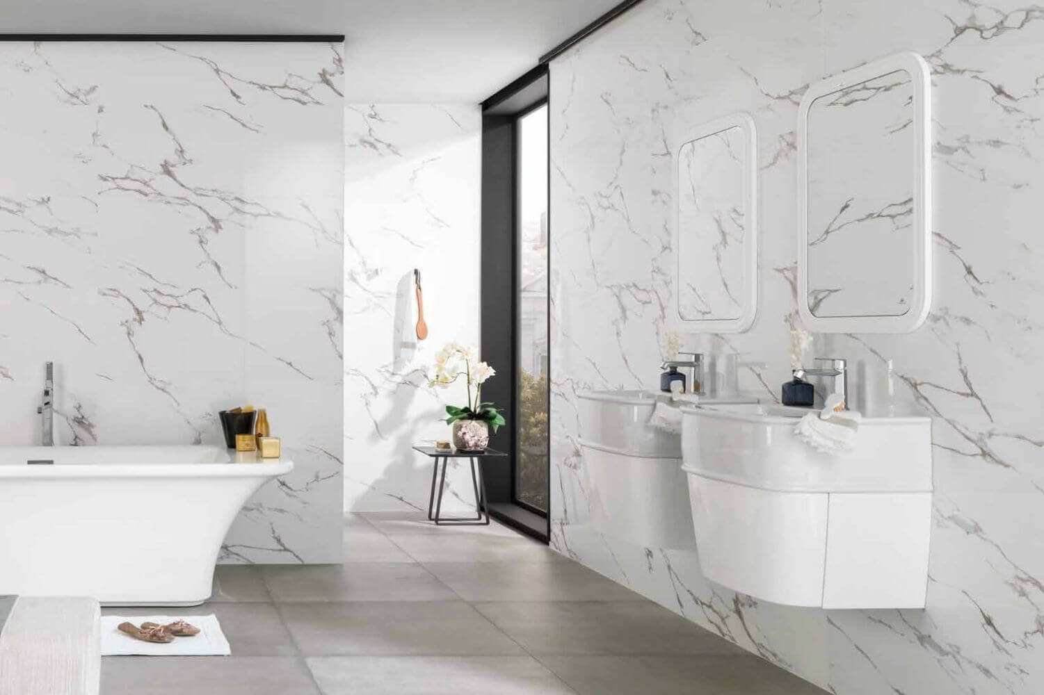 Porcelanosa marmol carrara for Marmol carrara